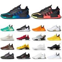 Pharrell Williams x adidas NMD Human Race Hu Nmd R1 V2Männer Frauen Sport Sneakers Top Qualität Laufschuhe Alle schwarzen Biene Töne Dazzle Japan Frauen Menschliche Große 36-47
