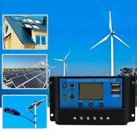 10/20 / 30A USB Panneau solaire Régulateur de batterie Charge Contrôleur intelligent 12 / 24V