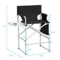 Aluminiumlegierung Regisseur Möbelstuhl Outdoor Camping Folding Angeln Tragbare Strand Mode Einfache Freizeit Multifunktionale High Füße