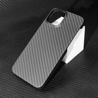 Real Carbon Fiber Phone Case for iPhone 13Mini 13 Pro Max Ultra Thin Anti-fall Carbon Fiber Hard Cover Cases H1009