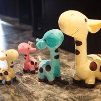 18 cm / 25cm carino giraffa peluche peluche pendente pendente morbido cervo farcito cartone animato animali bambola bambino giocattoli giocattoli di Natale compleanno regali colorati