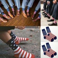 Moda Bandeira Americana de Algodão dos homens StarsStripes EUA Sock Old Glory Casual