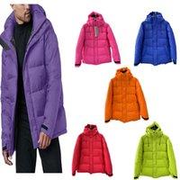Высочайшее качество Мужская понижающая зимняя куртка Письма Печать пальто пальто Дунс Куртки с капюшоном Пальто мужские женские ветровка многоцветная канада Верхняя одежда толстая теплая уличная одежда