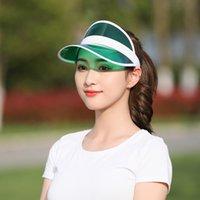 Güneş şapkası Yaz Unisex Çocuk Açık Şeffaf PVC Boş Üst Şapka UV Visor Güneş Şapka Moda Yaz Açık Parti Şapka 1238 V2