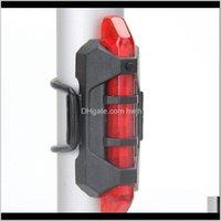 Aessórios Esportes Outdoorsportable USB Recarregável Bicicleta Tailight Bicicleta Cauda Luzes traseiras 4 Modos Lâmpada de Aviso de Segurança para Ciclismo Riding S