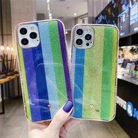 Proteção de arco-íris Casos de telefone para iPhone 13 12 11 Pro Xs Max XR 7 8 Plus Aquarela TPU Capa traseira