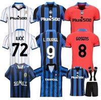 2021 2022 Atalanta BC Jersey Muriel Gomez Duvan Gosens Gosens Jerseys Lammers Miranchuk Ilicic Pasalic de Roon L.Muriel 91 92 96 Homens Kit Kit Futebol Camisa Uniforme