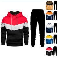Men's Tracksuits 2021 Y2k Spring Sportswear 2-piece Hoodie + Pants Sports Suit Sweater Zipper Clothing