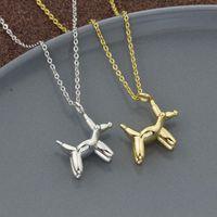 10pcs Unique Balloon Dog Pendant Necklaces For Women Men Puppy Sausage Pet Charm Animal Jewelry Memorial Gift Chains