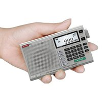 Radio Portable Digital Full Band FM,AM,MW,SW With Headphone,Clock,Temperature Thermometer,LCD Display,TF Card Slot,Recorder