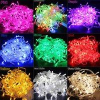 10m 100leds LED String Light AC220V AC110V 9 Cores Lâmpadas Festoon à Prova D 'Água Exterior Garland Festa de Festa Decoração de Natal