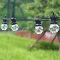 Strings 8M 13m 24M Festoon Led Globe String Light Outdoor Fairy Garden Wedding Party Street Lamp For Backyard Patio Decor
