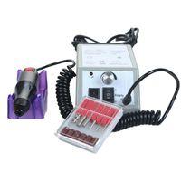 Elektrikli Tırnak Matkap Dosyaları Makinesi Manikür Ve Pedikür Bits Ile Set Kadın Kızlar için Zımpara Bantları ABD Fiş Aksesuarları