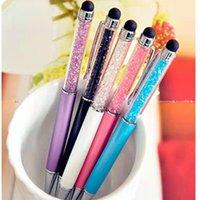 패션 크리 에이 티브 크리스탈 다이아몬드 편지지 볼 포인트 펜 20 컬러 기름진 검은 리필