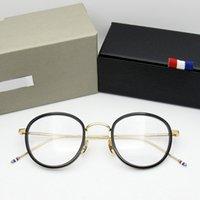 Lunettes de luxe Verres de haute qualité Rond d'acétate en forme de tob905 lunettes cadre hommes rétro lunettes femmes myopie lisant lunee oculos de grau cnkq 41zm