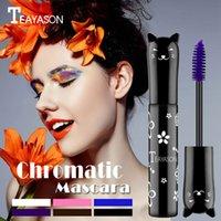 TeyaSon لون ماسكارا ماء ماء الرموش طويلة الأمد سهلة لإزالة ماسكارا الجمال سهلة لإزالة ماسكارا الجمال maquillaje