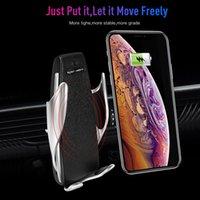 S5 Kablosuz Şarj Otomatik Sıkma Araç Şarj Tutucu Dağı Akıllı Sensör 10 W Hızlı Şarj Şarj Iphone Samsung Univer