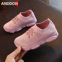 Size 22-30 Children Casual Breathable Mesh Sport Sneakers Boys Girls Kids Non-slip Wear-resistant Sock Shoes Baby Toddler Shoes H0917