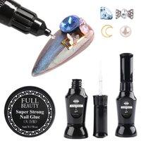 Nail Gel For Rhinestone Glue Brush Needle Trimming UV Polish Top Coat Art Decorations Jewelry Manicure LE1826