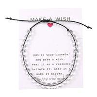 4 Ocean Natural Stone Transparent Beads Beaded Bracelet Women Rope Friendship Bracelet Boho Beach Jewelry HandMade Wish Gifts 110 M2