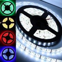 스트립 Bzoosio 5M SMD RGB 유연한 스트립 LED 라이트 Muti 색 12V 300 램프 화이트 따뜻한 녹색 빨간색 파란색 F1