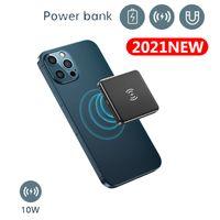 Mini Portable 5000mAh Bank Power Bank Magnetico Caricabatterie wireless Mobile Powerbank Extenal Batteria per iPhone12 Pro Max 4 colori