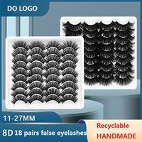 18 pares 3d faux mink cílios naturais grossos cílios falsos dramáticos longos wispies lash volume beleza beleza cílios