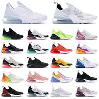 Schuhe Nike Air Max Airmax 270 Laufschuhe Männer Frauen Sport Turnschuhe OFF White Alle schwarz weiß gezüchtet kaum Rose Pink Dusty Cactus Light Bone Rot Braun Mens Womens Trainer