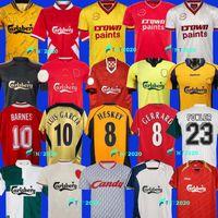 1993 1995 04 05 Dalglish Heskey Mens Retro Soccer Jerseys 85 86 08 09 2010 Fowler Gerrard Torres Kuyt Casa Away 3rd Camicia calcio Rétro Suarez McManaman Uniformi