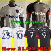 MLS 2021 D.C. Jeux de joueurs United Fans Jersey 2022 Flores Arriola Pines Gessel 20 21 22 Chemises de football