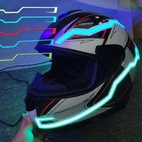 Motorradhelme 2 Stück Stilvolle ATV-LED-Nachtsicherheits-Warn-Lichtreitsignal-Helm-Dekorationslampe blinkender Streifen