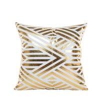 Funda de almohada breve bronceado sofá geométrico cojín decorativo cubierta de almohada mezcla 45 * 45 lanzar una decoración para el hogarcowcover