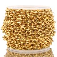 1 metro in acciaio inox oro rotolo cavo catene catena piatta chic labbra catena per collana bracciale preparazioni di gioielli a catena fai da te