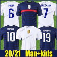 Mbappe Benzema Jerseys Soccer Jerseys Francese National Team Uniformi Varane Pogba Griezmann Jersey Hernandez Dembele Kante Camicie Pavard Giroud Maillot de Football 20/21