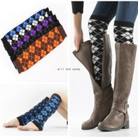 Geometric Rhombus Anklet Leg Warmers Knee High Boot Cuffs Toppers Leggings Women Girls Autumn Winter Loose Stockings Socks Fashion Clothing Will and Sandy