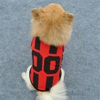 Sports Style Stripe Sublimation Blanks Dogs Clothe Paw Print Plain T-Shirt Cotton Ventilation Spring Summer Vests Football Shirt 1825 V2