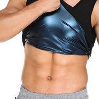 Homens, suor, sauna, shaper, cintura, treinador, barriga, barriga, compressão, camisa, espartilho, gordura, queimando, fitness, fitness, fino, Slim, suor Polímero