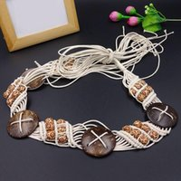 Cintos Mulheres Ethnic Wind Cera Corda Tecidos Cinto Artesanal Cinto Bohemian Cintura Chain Acessórios Skirt