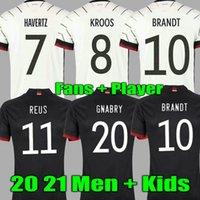 2021 Allemagne Jersey Soccer Jersey White Home Kroos Reus Muller Brandt Werner Hummels Gotze 21 22 Chemise de football Hommes Kits