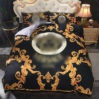 2021 Neue Designer Bettwäsche Sets Cover BEST SALING Queen Size Designer Bettwäsche 4 Stück Set 2021 Buchstaben Druck Sommer Luxus Bett Blatt Kissenbezug