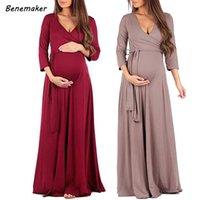 Платья для беременной материнской одежды для беременности женщины V-образным вырезом Сексуальное платье Беременная женщина кормящая одежда для фотосъемки YC001
