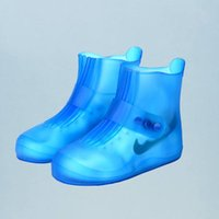 Disposable Covers 1 Pair Of Shoes Cover Outdoor Waterproof Shoe Wear-resistant Non-slip Rain For Men And Blue