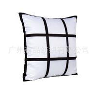 9 Panel Yastık Kılıfı Süblimasyon Boş Yastık Kapak Yeni Gelmesi Polyester Yastık Sıcak Transfer Baskı DIY Kişiselleştirilmiş Hediye 40 * 40 cm 593 R2