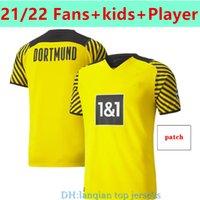 21 22 Dortmund Soccer Jersey Home Borussia Camisa de Futebol Haaland Reus Neongelb Bellingham Sancho Hummels Brandt Men + Kids Socks Versão do jogador Maillot de pé
