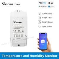 Sonoff TH10 10A application sans fil Télécommande WiFi Smart Home Home Timètre de minuterie de support Température Température Humidité Monitor
