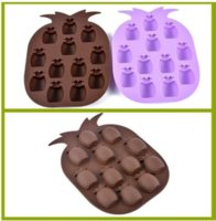 Wholesale 300pcs lot Ice Cream Tools Brand New Maker Mould Bar Party Drink Tray Pineapple Shape Ice Cube Freeze Mold