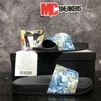Pares de primera calidad Moda para hombres de moda diseñadores de goma zapatillas zapatos Slide Slide Summer Wide Ladys Flip Flip Flips Slipper con caja Tamaño EUR36-EUR45