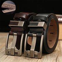 Belts Top Layer Leather Cowskin Genuine Male Belt For Jeans Classical Designer Strap Vintage Pin Buckle Men
