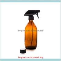 Storage Housekeeping Organization Home Gardenstorage Bottles & Jars 1 2 3 Brown Glass Salon Spray Essential Oil Dispenser Hair Cutting Atomi