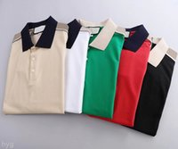 Мужские стилисты поло рубашки роскошные Италия дизайнер одежда с коротким рукавом мода мужчины летняя футболка азиатский размер M-3XL